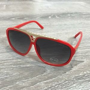 Louis Vuitton Red Evidence Sunglasses New